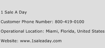 1 Sale A Day Phone Number Customer Service