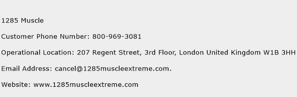 1285 Muscle Phone Number Customer Service