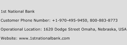 1st National Bank Phone Number Customer Service