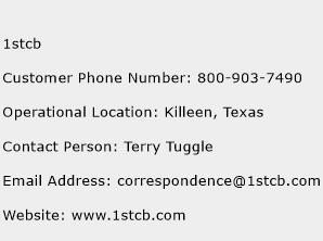 1stcb Phone Number Customer Service