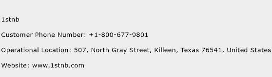 1stnb Phone Number Customer Service