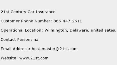 21st Century Car Insurance Phone Number Customer Service