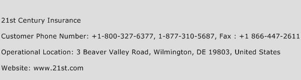 21st Century Insurance Phone Number Customer Service