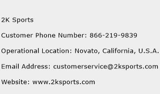 2K Sports Phone Number Customer Service