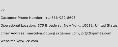 2k Phone Number Customer Service