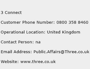3 Connect Phone Number Customer Service
