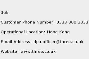 3uk Phone Number Customer Service