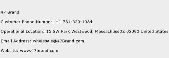 47 Brand Phone Number Customer Service