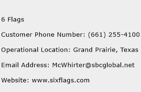 6 Flags Phone Number Customer Service