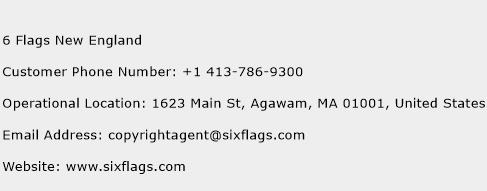 6 Flags New England Phone Number Customer Service