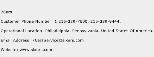 76ers Phone Number Customer Service