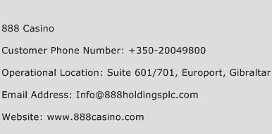 888 Casino Phone Number Customer Service