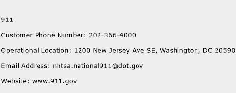 911 Phone Number Customer Service