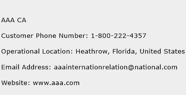 AAA CA Phone Number Customer Service