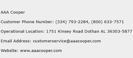 AAA Cooper Phone Number Customer Service
