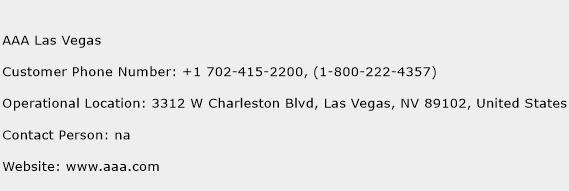AAA Las Vegas Phone Number Customer Service