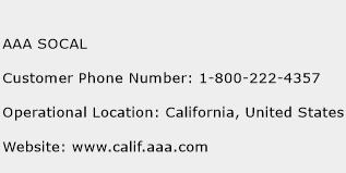 AAA SOCAL Phone Number Customer Service