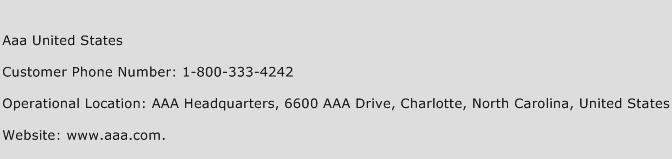 AAA United States Phone Number Customer Service