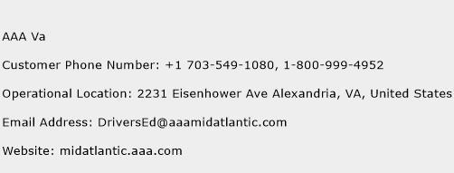 AAA Va Phone Number Customer Service