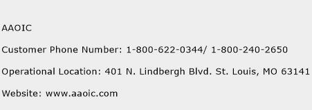 AAOIC Phone Number Customer Service
