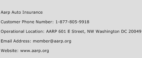 AARP Auto Insurance Phone Number Customer Service