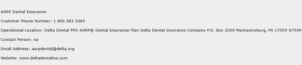 AARP Dental Insurance Phone Number Customer Service