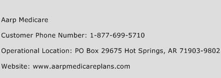AARP Medicare Phone Number Customer Service