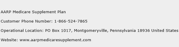 AARP Medicare Supplement Plan Phone Number Customer Service