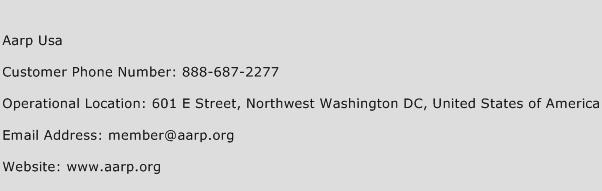 AARP USA Phone Number Customer Service
