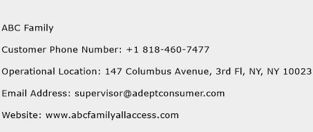 ABC Family Phone Number Customer Service
