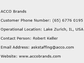 ACCO Brands Phone Number Customer Service