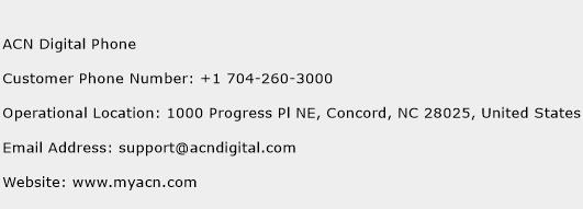 ACN Digital Phone Phone Number Customer Service