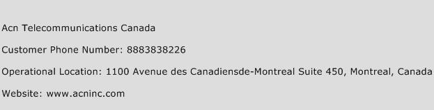 ACN Telecommunications Canada Phone Number Customer Service