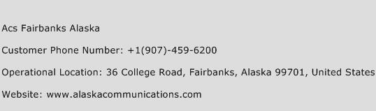 ACS Fairbanks Alaska Customer Service Number | Contact Number ...