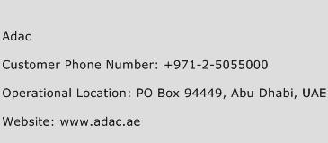 ADAC Phone Number Customer Service