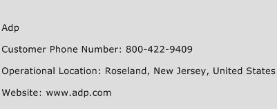 ADP Phone Number Customer Service