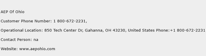 AEP Of Ohio Phone Number Customer Service