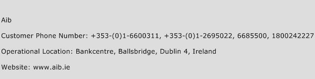 AIB Phone Number Customer Service