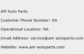 Am Auto Parts Number Am Auto Parts Customer Service