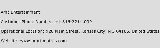 AMC Entertainment Phone Number Customer Service