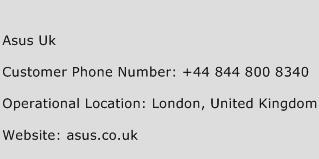 ASUS UK Phone Number Customer Service
