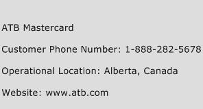 ATB Mastercard Phone Number Customer Service