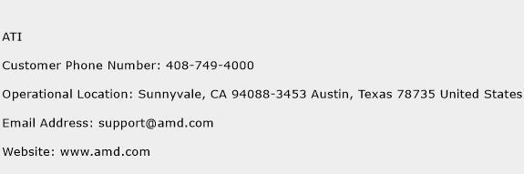 ATI Phone Number Customer Service