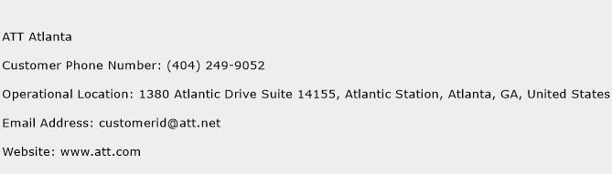 ATT Atlanta Phone Number Customer Service