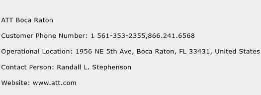 ATT Boca Raton Phone Number Customer Service