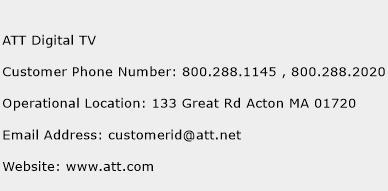ATT Digital TV Phone Number Customer Service