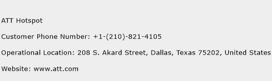 ATT Hotspot Phone Number Customer Service