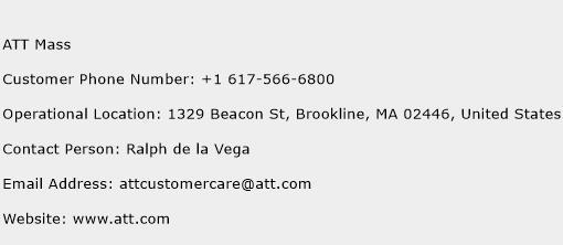 ATT Mass Phone Number Customer Service