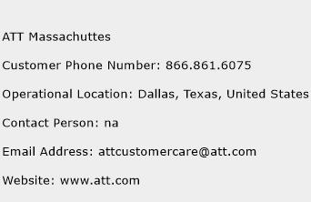 ATT Massachuttes Phone Number Customer Service