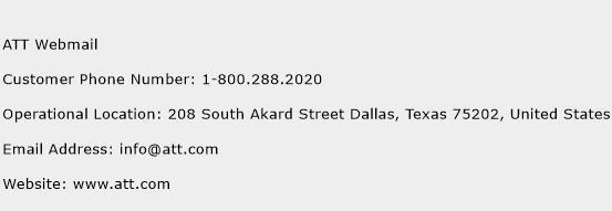 ATT Webmail Phone Number Customer Service